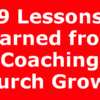 9 Lessons learned from Coaching Church Growth